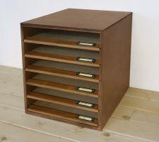 【BREA】木製書類ケースNo.12ダークブラウン
