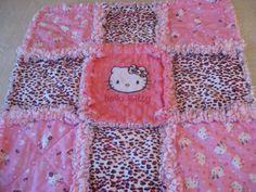 Ladybug Hello Kitty Baby Girl Security Lovey Rag Blanket Mini Quilt   eBay