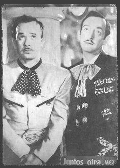 Pedro Infante & Jorge Negrete, stars from Mexico's golden age of cinema.