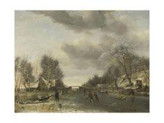 JAN VAN DE CAPELLE POSTER Winter Landscape RARE NEW