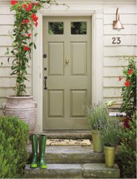 Feng Shui - Apartment Entrance and Mapping Your Life - Feng Shui Home Designs Cottage Front Doors, Green Front Doors, Cottage Door, Painted Front Doors, Front Door Colors, Front Door Steps, Front Stoop, Front Porches, Porch Steps