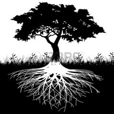 Free art print of Tree roots silhouette. Illustration of silhouette tree with roots as a symbol of nature. Tree Silhouette, Silhouette Vector, Tree Illustration, Illustrations, Black And White Tree, Tree Roots, Tree Wallpaper, Tree Photography, Trendy Tree