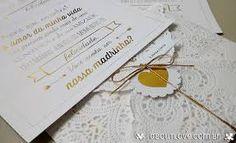 Resultado de imagem para convites com papel rendado