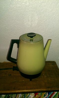 Groovy 70s Olive Green Electric Coffee Percolator by EmilysCraftys, $18.00