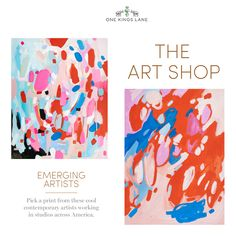 Emily Rickard Fine Art featured on One Kings Lane // The Art Shop Sale