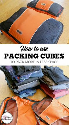How to Use Packing Cubes to Pack More in Less Space - Tips on how to use eBags packing cubes to fit more into your carry-on bags and luggage on your next trip or family vacation. Don't travel without them! Carry On Luggage, Carry On Bag, Travel Luggage, Travel Backpack, Luggage Packing, How To Pack Luggage, Packing Shoes, Packing Outfits, Luggage Suitcase