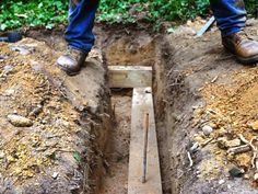 To pin the timber in place, use an 18-inch piece of rebar driven into the soil with a 2-pound sledgehammer.