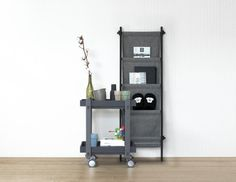 Functional Trolley Table - Eco-friendly rolling table at home in any space...