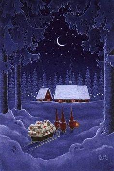 Bilderesultat for children's playmate magazine Christmas Scenes, Noel Christmas, Christmas Pictures, All Things Christmas, Winter Christmas, Vintage Christmas, Christmas Crafts, Xmas, Primitive Christmas