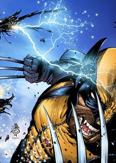 Wolverine by Danny Miki, colours by Sean Ellery