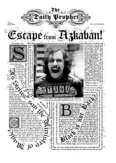 Daily Prophet - Escape from Azkaban (Harry Potter and the Prisoner of Azkaban)