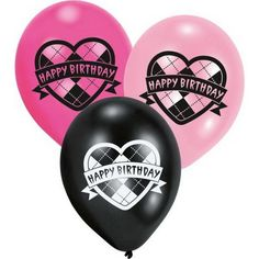 MH Monster High Luftballons 6 Stück in 1 Set