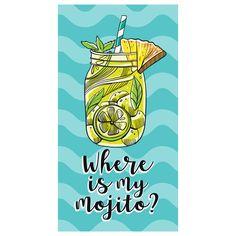 Where Is My Mojito ručnik za plažu Mojito, Madrid Barcelona, Pop Figures, Funko Pop, Store Online, Html, Beach, Towels