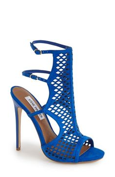Free shipping and returns on Steve Madden 'Maylin' Cage Sandal (Women) at Nordstrom.com. Amp up the drama with this trendsetting sandal featuring a cutout front panel, a duo of slender ankle straps and a patent stiletto heel.