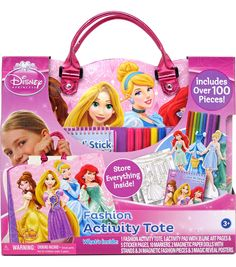 This Princess Fashion Activity Tote Set by Disney is perfect!