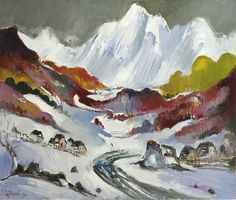 The white mountain Mountain, Paintings, Stuff To Buy, Art, Art Background, Paint, Painting Art, Kunst, Performing Arts