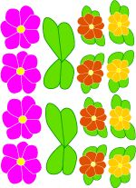 Cut outs for hawaiian lei