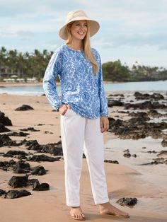 Women's Beach Pants - Solumbra: All Day 100+ SPF Sun Protective Clothing - Style# 23600