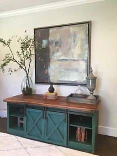 LOVE the Old World feel of this sliding Door Console | Do It Yourself Home Projects from Ana White
