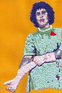Rocky Horror Picture Show embroidery.