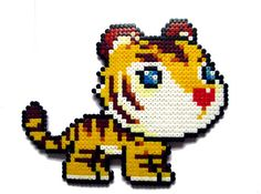Maple Story Orange Tiger perler bead sprite