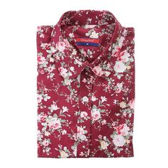 Dioufond New Floral Long Sleeve Vintage Blouse Cherry Turn Down Collar Shirt Blusas Ladies Blouses Womens Tops 1