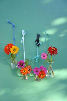 Vasen - Apotheker Fläschchen Labor Flaschen 4x Glas Vase - ein Designerstück von Hej_Ikea_Du_wohnst_hier_nicht bei DaWanda