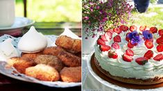 RAPARPERI-JUUSTOKAKKU - Kaakao kermavaahdolla Feta, Acai Bowl, Cheesecake, Breakfast, Desserts, Cheesecake Cake, Postres, Deserts, Cheesecakes