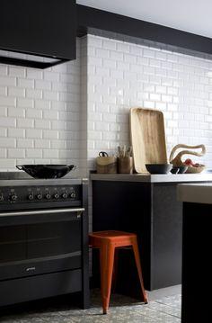 keuken met metrotegels