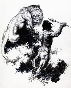 Frank Frazetta Sketches | Ungoliantschilde — Frank Frazetta ~ Black and White Sketches and...