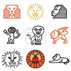 Sticker lion hand drawn icons in vector - majestic • PIXERSIZE.com Lion Icon, Lion Images, Pictogram, Creative Inspiration, Art Reference, Wall Decals, How To Draw Hands, Stickers, Tattoos