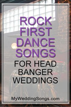 Love rock music?  Tired of the popular wedding songs used over and over?  Check our our list of rock first dance songs!  Metallica is on the list. Rock Wedding Songs, Popular Wedding Songs, First Dance Wedding Songs, Wedding Playlist, Rock Songs, Wedding Music List, Christina Perri, Classic First Dance Songs, Metallica