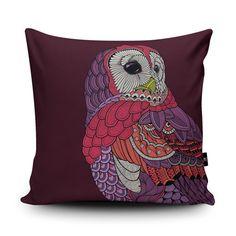 Owl Cushion Owl Home Decor Owl Pillow Bird Pillow by Wraptious