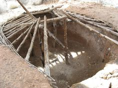 Pit Houses: Warm in the Winters and Cool in the Summers: Pit House Reconstruction, Anasazi State Park