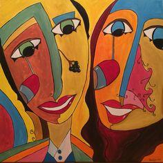 Vino on my mind, 80x80 cm, acrylic on canvas, February 2015