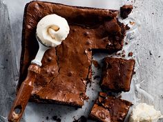 Double chocolate brownies http://www.eatout.co.za/recipe/double-chocolate-brownies/