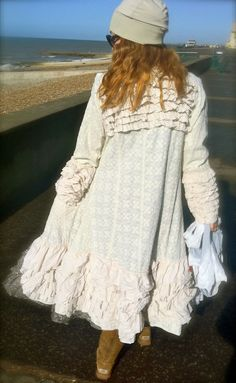Stunning ewa i walla ruffled coat,hat and skirts    homewithmadeleine... www.ewaiwalla.se cookingwithmadele... www.swedishinteri... www.bespoke-handm... swedishinteriorde...      pic Madeleine Lee