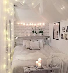 White and cute bedroom decor for teen girls. Pick one cute bedroom style for teen girls, more DIY Dream Castle bedroom ideas will be shown in the gallery and get inspired!