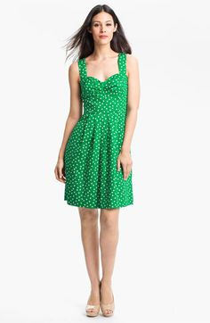 Donna Ricco Polka Dot Cotton Fit & Flare Dress | Nordstrom