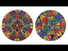 """Color Diffusing Paper """"Stained Glass"""" Rose Window - Project #109"""