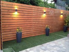 Beautiful Garden Fence Decoration Ideas 28 Gorgeous Front Fence Lighting Ideas to Apply Now outdoor Patio Fence, Front Fence, Backyard Pergola, Backyard Landscaping, Diy Fence, Pergola Kits, Fenced In Backyard Ideas, Outdoor Fencing, Yard Fencing
