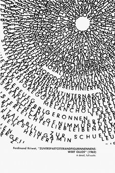 An Anthology of Concrete Poetry Gerhard Rühm, Typography Letters, Lettering, Typography Poster, Crea Design, Carl Friedrich, Poesia Visual, Writing Poetry, Design Graphique