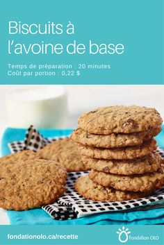 Desserts With Biscuits, Cookie Desserts, Oatmeal Cookie Recipes, Oatmeal Cookies, Biscuit Recipe, Cookies Et Biscuits, Yummy Food, Tasty, Pie Recipes