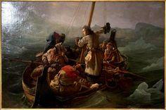 Ludvig Filip (kesk.) seikkailee Norjassa François-Auguste Biardin maalauksessa, joka löytyi hiljattain.
