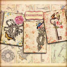 KEYS Digital Collage Sheet digital scrapbook by CherryPinkPrints