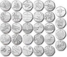 Olympic 50p coins which ones are worth the most? | eBay