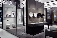 VitrA, creates bathroom and surface solutions with unique ideas and sustainable designs. Vitra Bathrooms, Bathroom Showrooms, Tile Showroom, Showroom Design, Glamorous Bathroom, Modern Bathroom, Bathroom Interior Design, Interior Exterior, Bathroom Inspiration