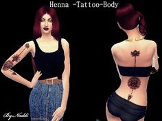 Sims 4 CC's - The Best: Tattoo-Henna-Body by Naddiswelt