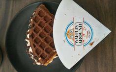 Here to serve you freshly baked and warm Belgian waffles. #Food #Desserts #Bakery #Lounge #American #Waffles #Shakes #WafflinAround #CityShorPune