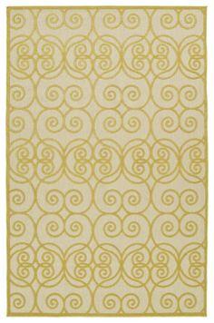 Five Seasons FSR108-05 Gold Indoor/Outdoor Rug